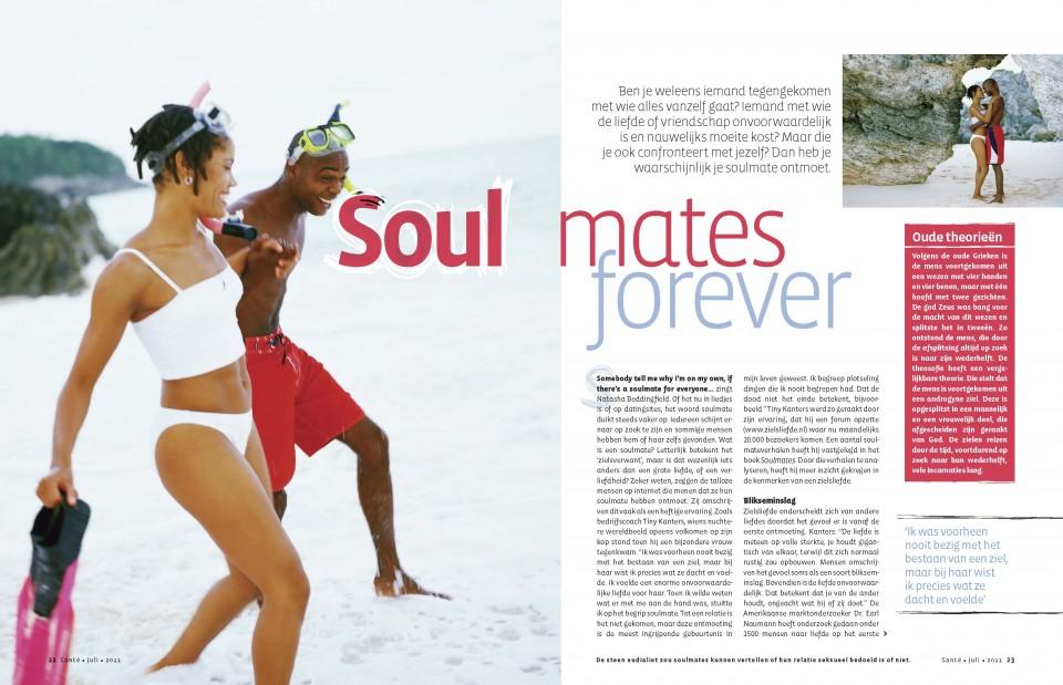 tijdschrift Santé, artikel soulmates