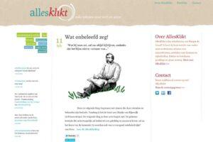 allesklikt, voorbeeld van een website met een blog