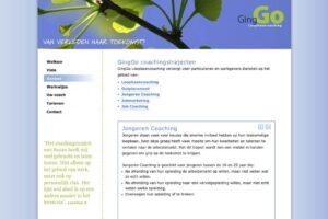 website van Suzan Peters, GingGo Loopbaancoaching