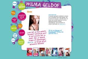 Website voor WIlma Geldof, jeugdboekenschrijver.