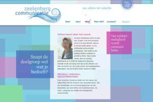 zeelenbergcommunicatie, voorbeeld van een website met een blog