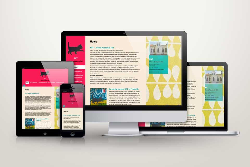 kleine academie tiel responsive website