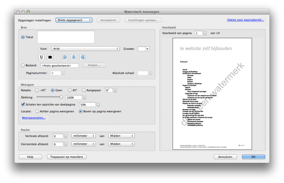 watermerk toevoegen in je pdf