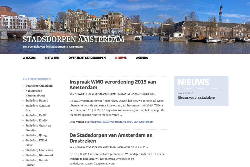stadsdorpen amsterdam