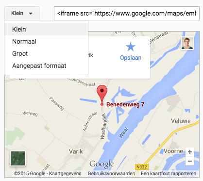 google-kaart-formaat