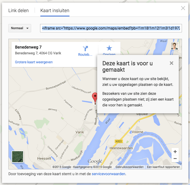 google-kaart-insluiten-popup
