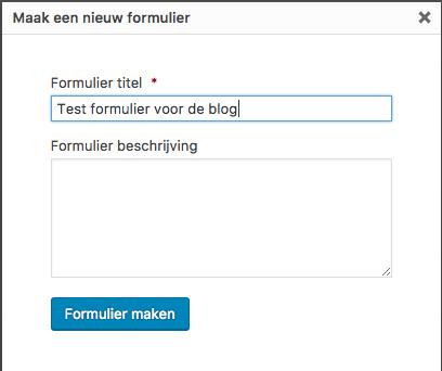 Een formulier maken
