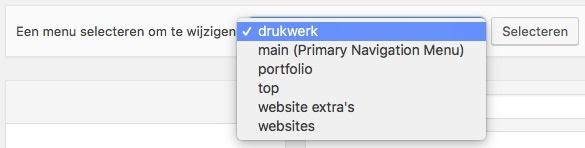 menu kiezen wordpress
