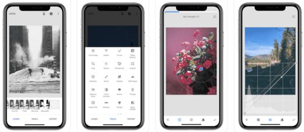 Met de app Snapseed kun je je eigen foto's bewerken. Een goed alternatief voor stockfoto's.