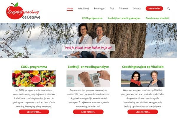 leefstijlcoachingdebetuwe.nl website