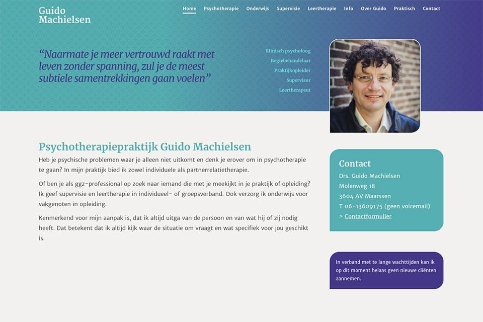 Guido Machielsen Hompage website