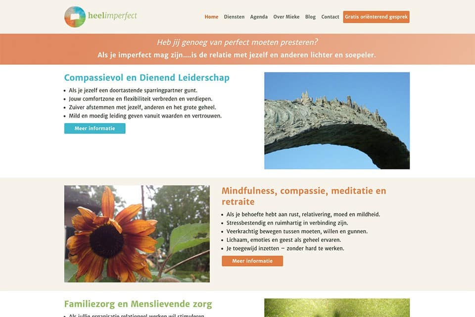 Heelimperfect homepage