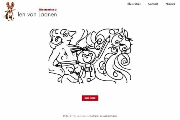 homepagina van de website van ien van laanen