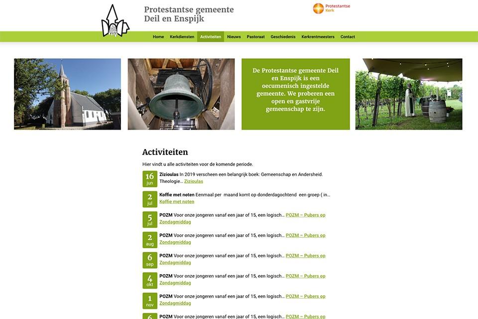 Website Kerk Deil en Enspijk - activiteiten