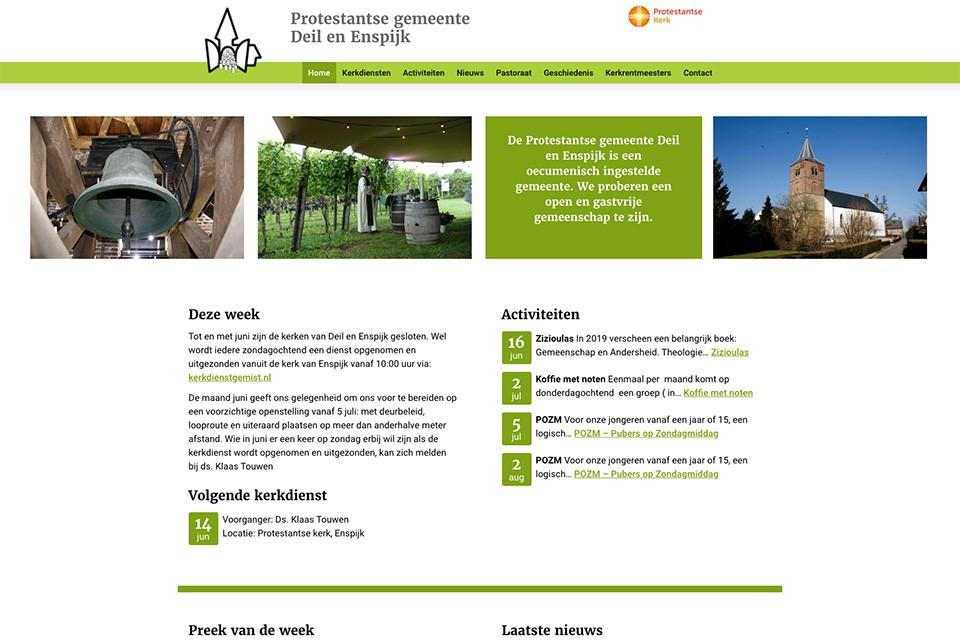 Website Kerk Deil en Enspijk
