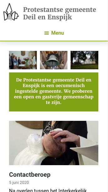 website Kerk deil en Enspijk nieuws mobiel
