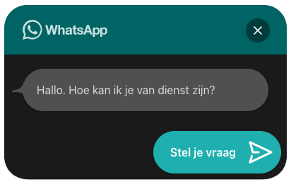 Whatsapp-knop-chatvenster
